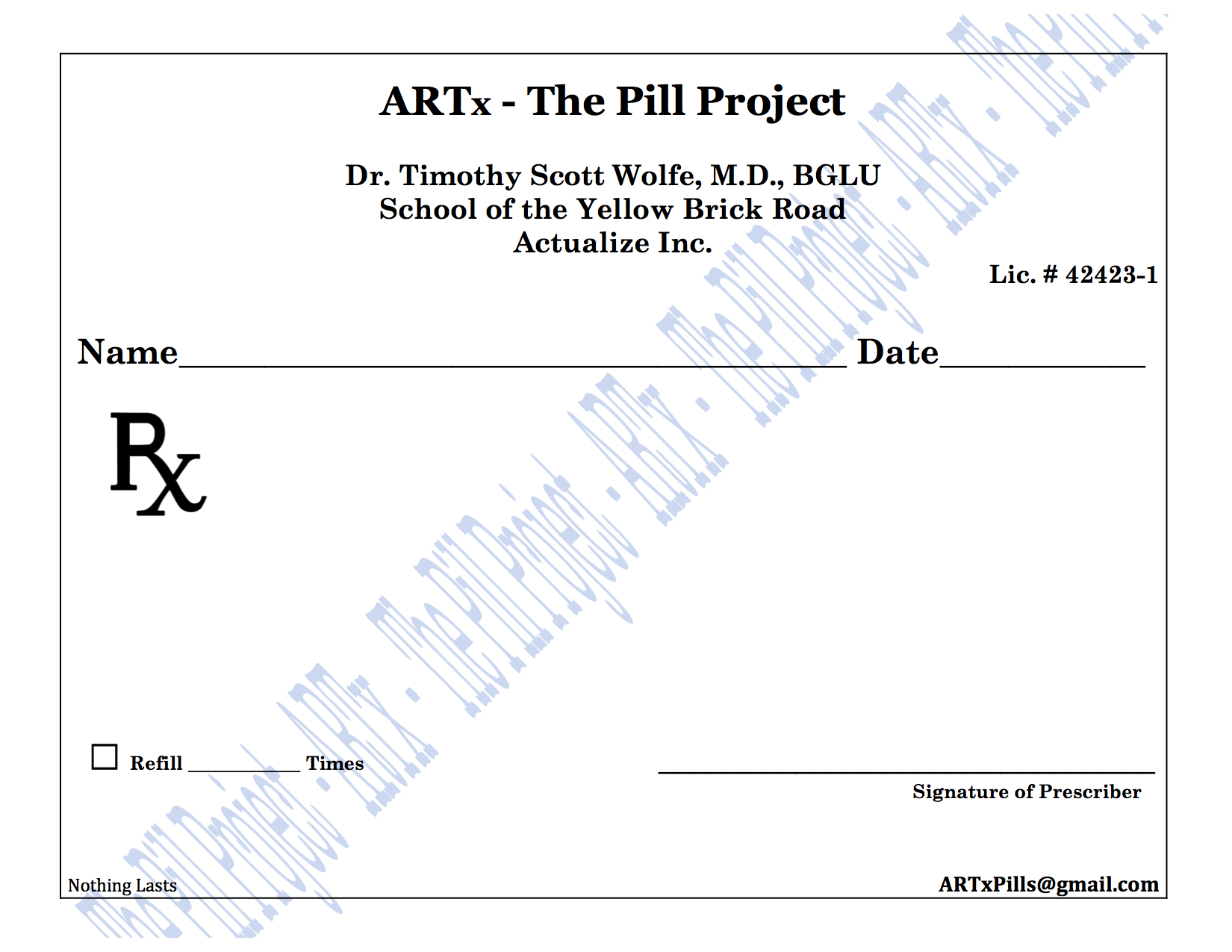 sample prescription pad template .